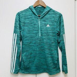 Adidas women's green hoodies jacket size S